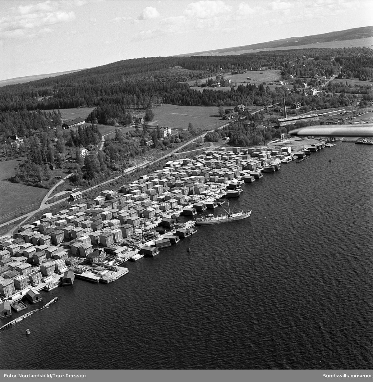 Flygfoton över Karlsviks sågverk.