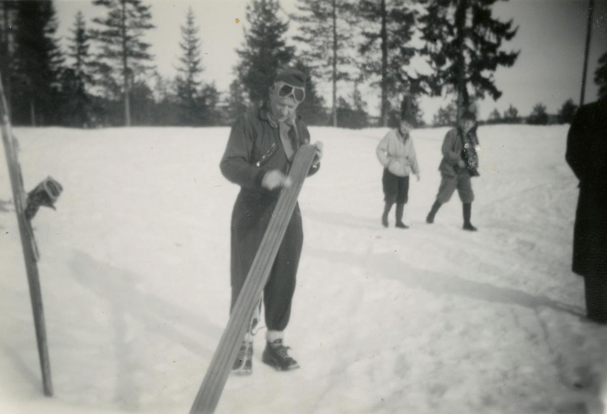 Kongsberg skier Birger Ruud at Hannibal ski jump