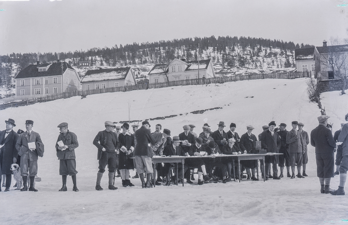 Skiing competiotion at Kongsberg early 1920s