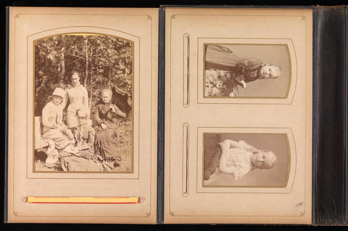 Femte oppslag i album 20 fra Mathiesen-familien på Linderud gård.