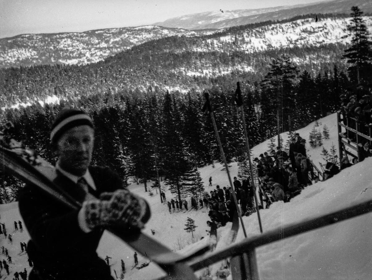 Kongsberg skier Birger Ruud at Hannibalbakken