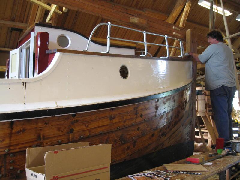 Børsabåten Eivind under bygging.