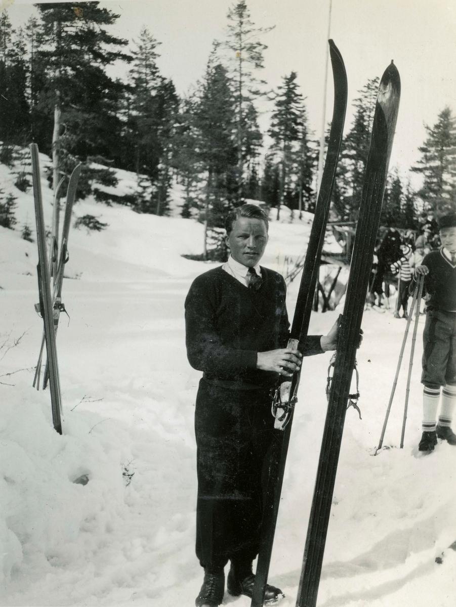 Skier Sverre Kolterud at Hannibalbakken