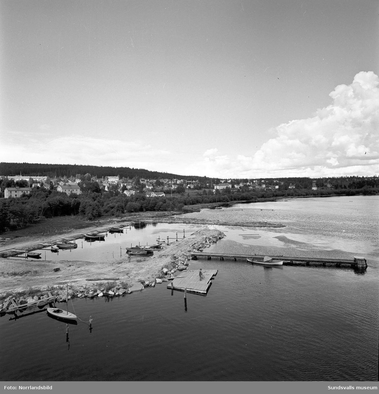 Ny småbåtshamn vid Östrand.
