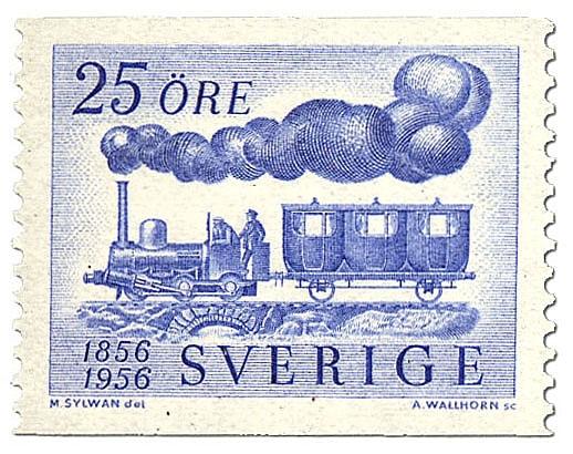 Gammalt lokomotiv.