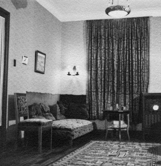 Kuttrasjuhörnet, tyvärr hittills oinvigt. Till höger skymtar Radio-ögat. Bogotá, juli 1935
