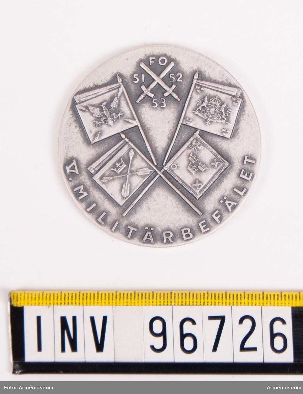 Medalj i silver för 5:e militärbefälet.