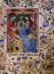 maria bebådelse blå klänning