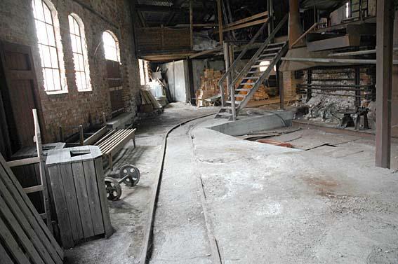 Øverste del av sodahuset der smelta kom ut (Foto/Photo)