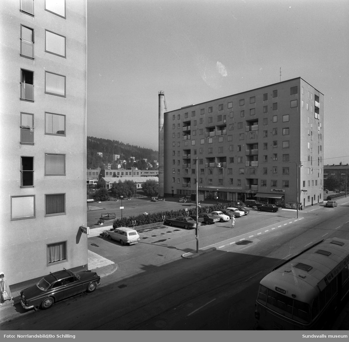 Flerfamiljshuset vid Storgatan 52.