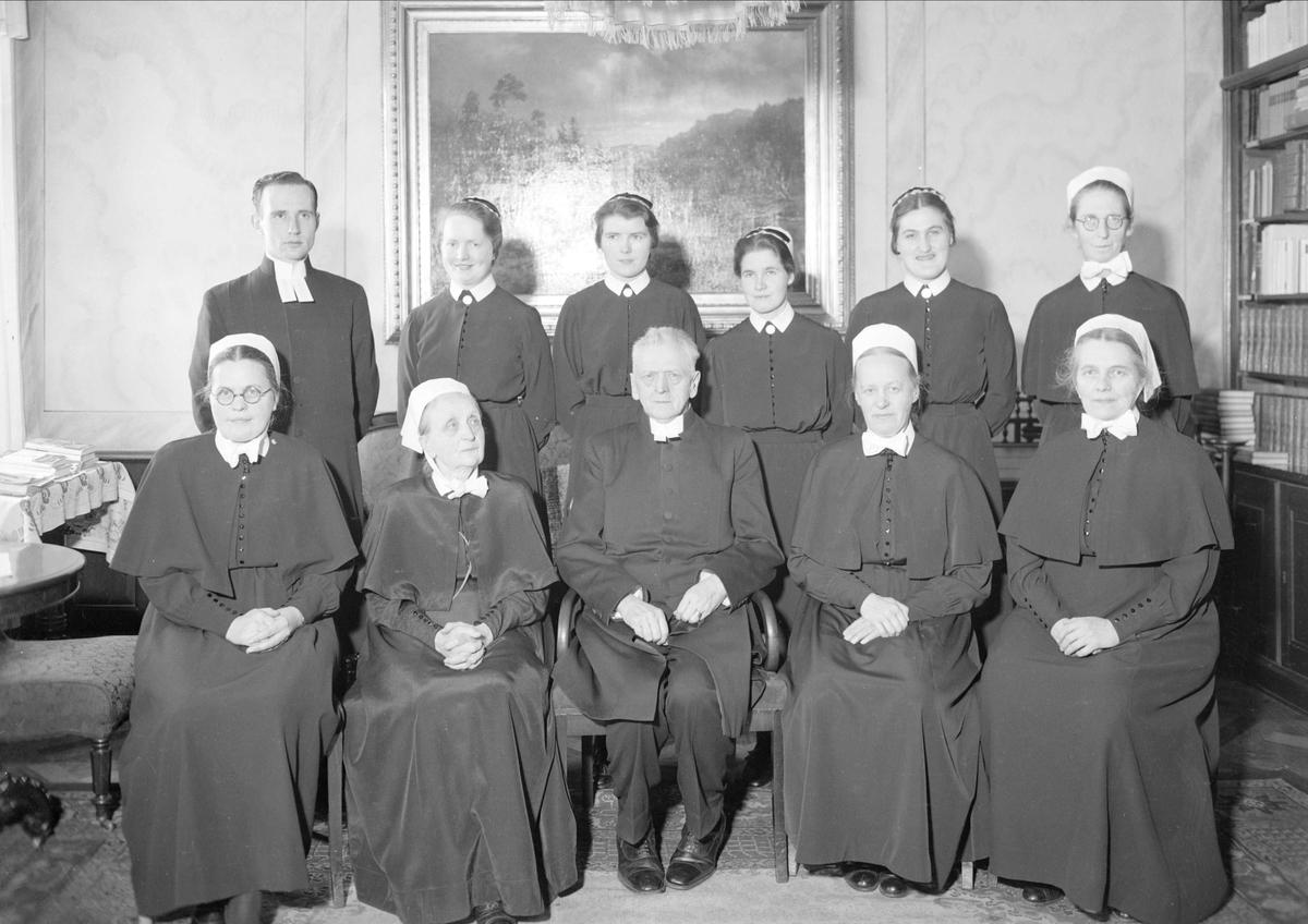 Grupporträtt, Samariterhemmet, Uppsala 1939