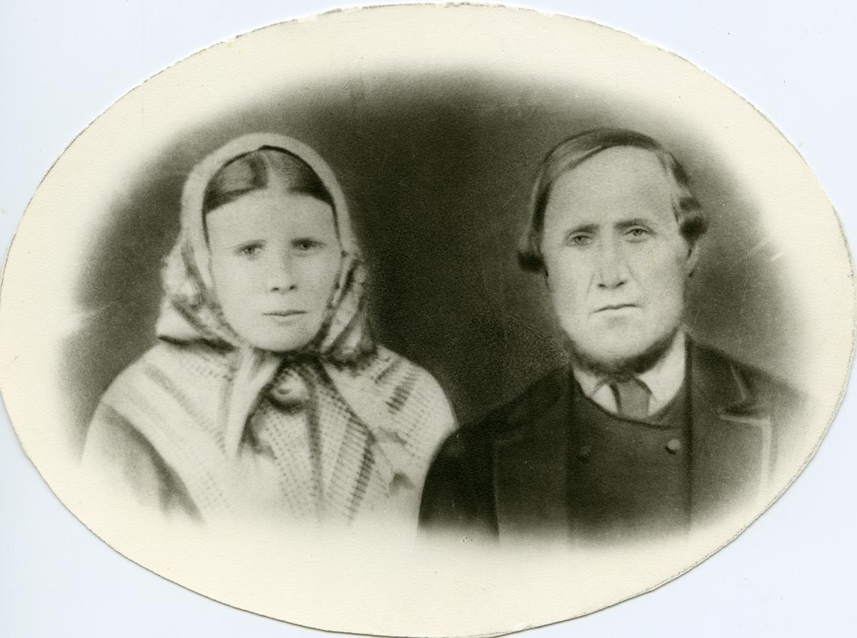 Portrett av Mikjel Haraldson Brattrud og hans kone Tora Arnesdatter Fønhus.