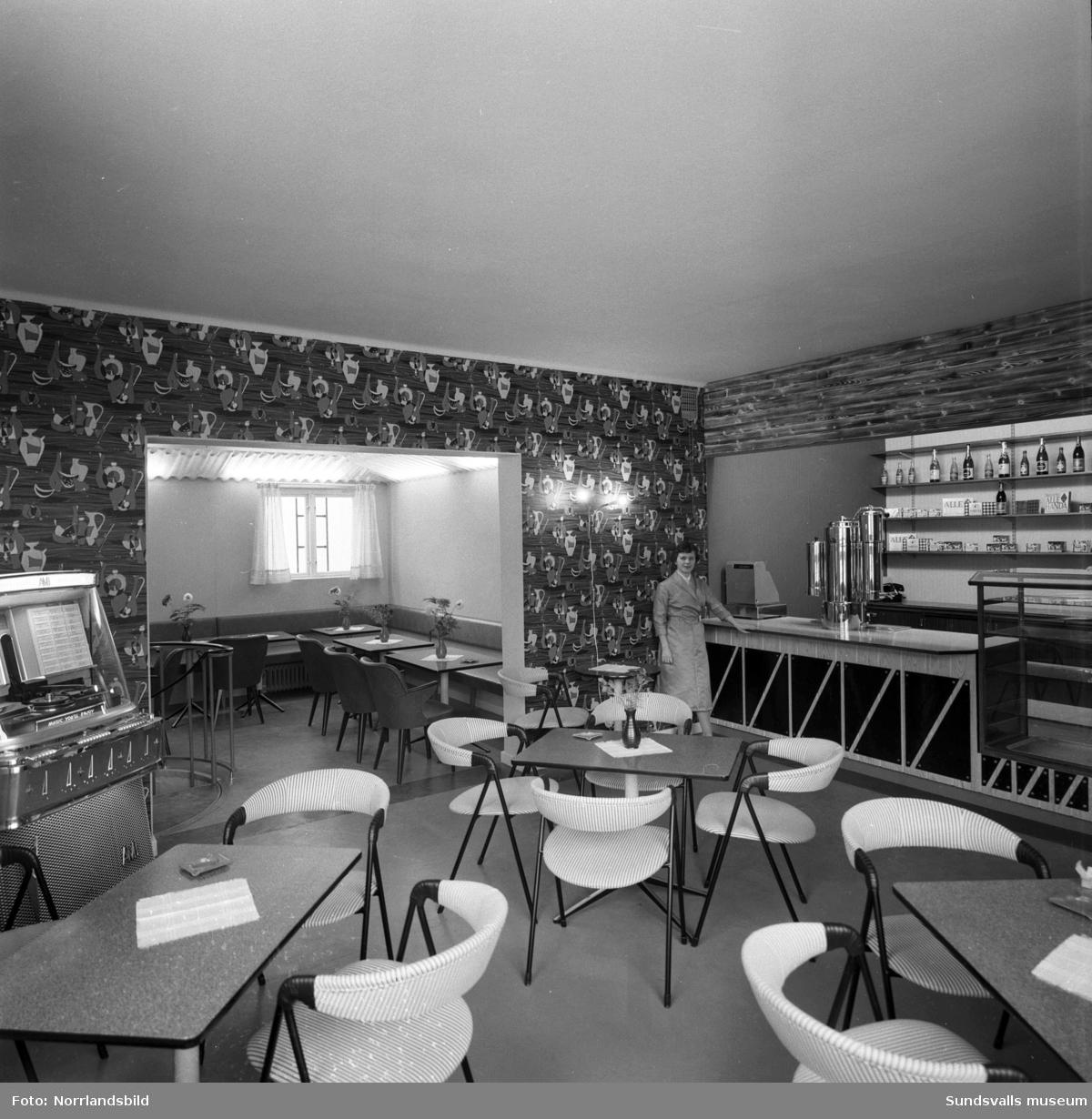 Interiörbild från Orres konditori i Kvissleby.