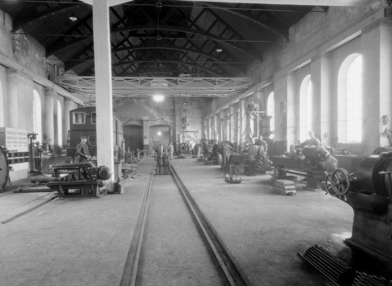 Jernbaneverkstedet på Thamshavn i 1931. Fotograf ukjent. (Foto/Photo)