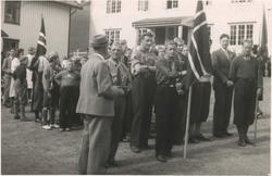 Den første speidertroppen etter krigen på Løkken 17. mai 194