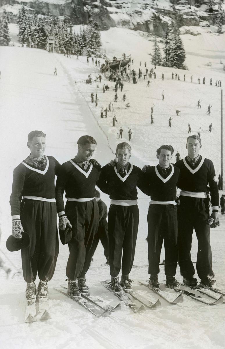 Norwegian alpine skiers