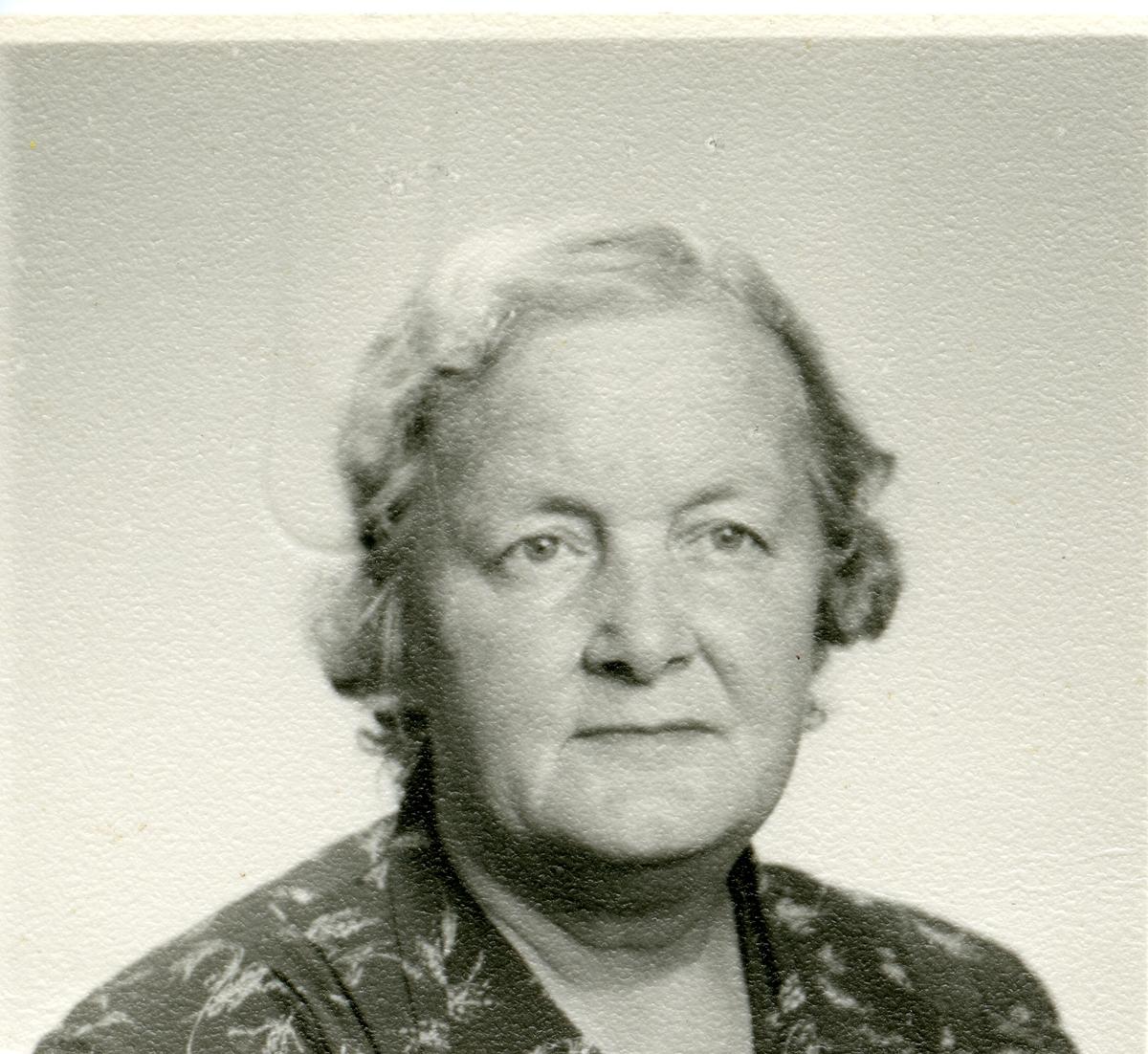 Portrett av Gunvor Jørandby.
