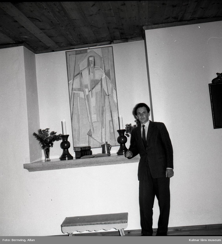 Överlämnadet av en tavla den 30/10 1958 i Föra kyrka.