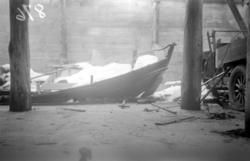 Museets gamle torskegarnbåt (katalog nr. 9/1935) og katalog