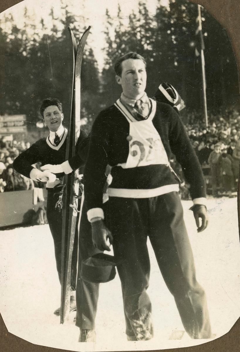 Athlete Reidar Andersen during competition