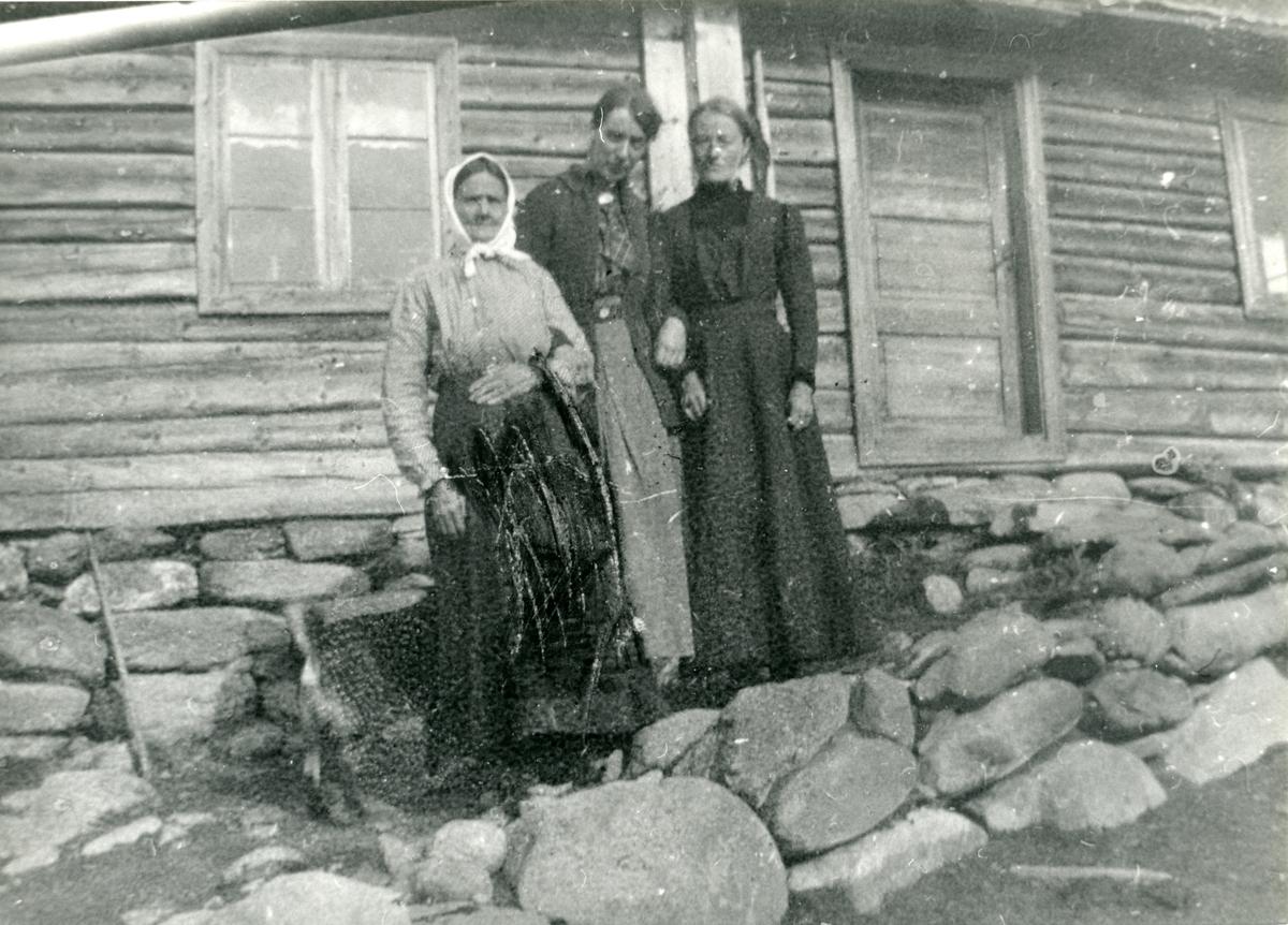 Ingebjørg Lineikro sammen med Anne og Inger Hagen.