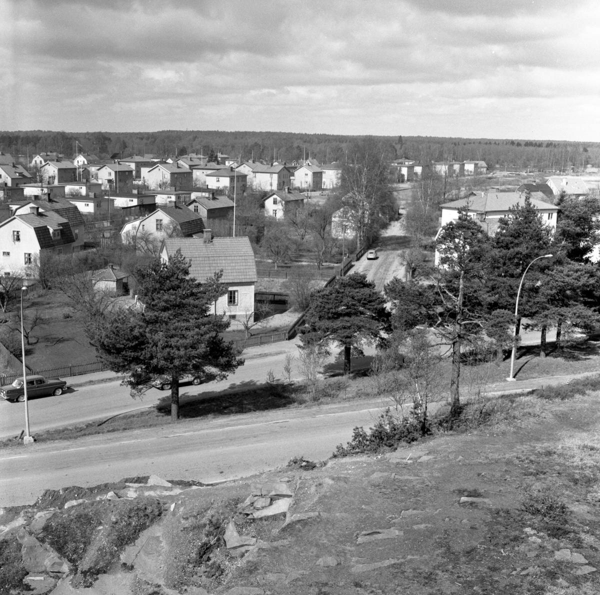 Utsikt från Rudsberget i oktober 62.