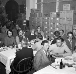 Vin- och Spritcentralens julfest i de gamla lokalerna i Sten