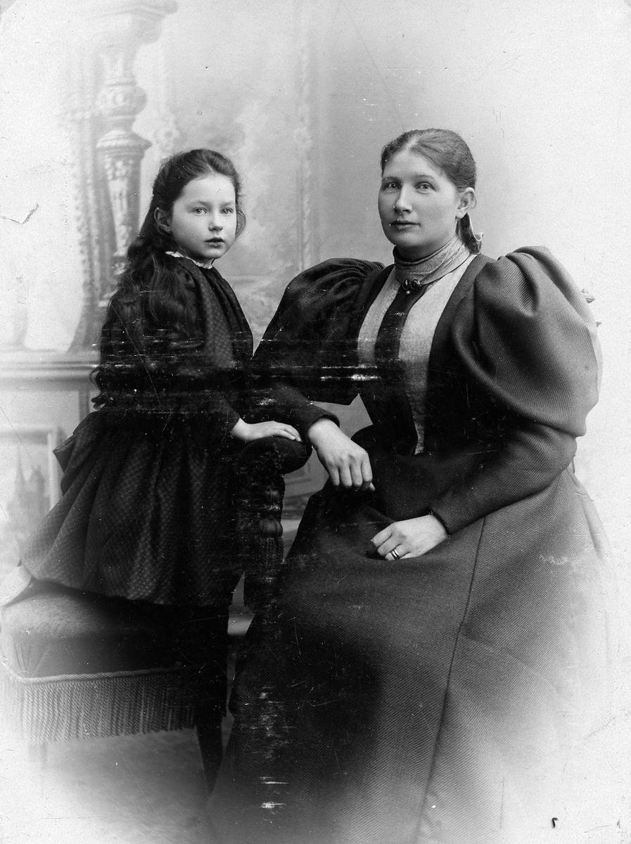 Bertin A Bergkvist med dottern Emmy, gift Wadstein.