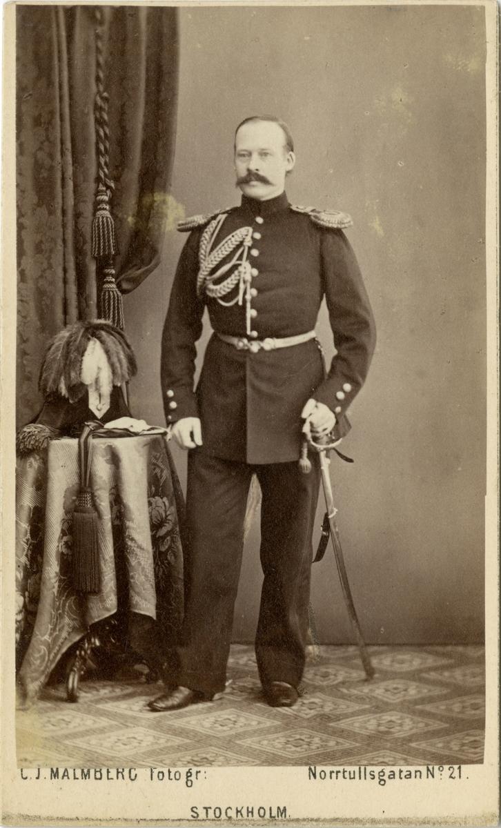 Porträtt av Peter Arvid Henric Stjernspetz, kapten vid Topografiska kåren.
