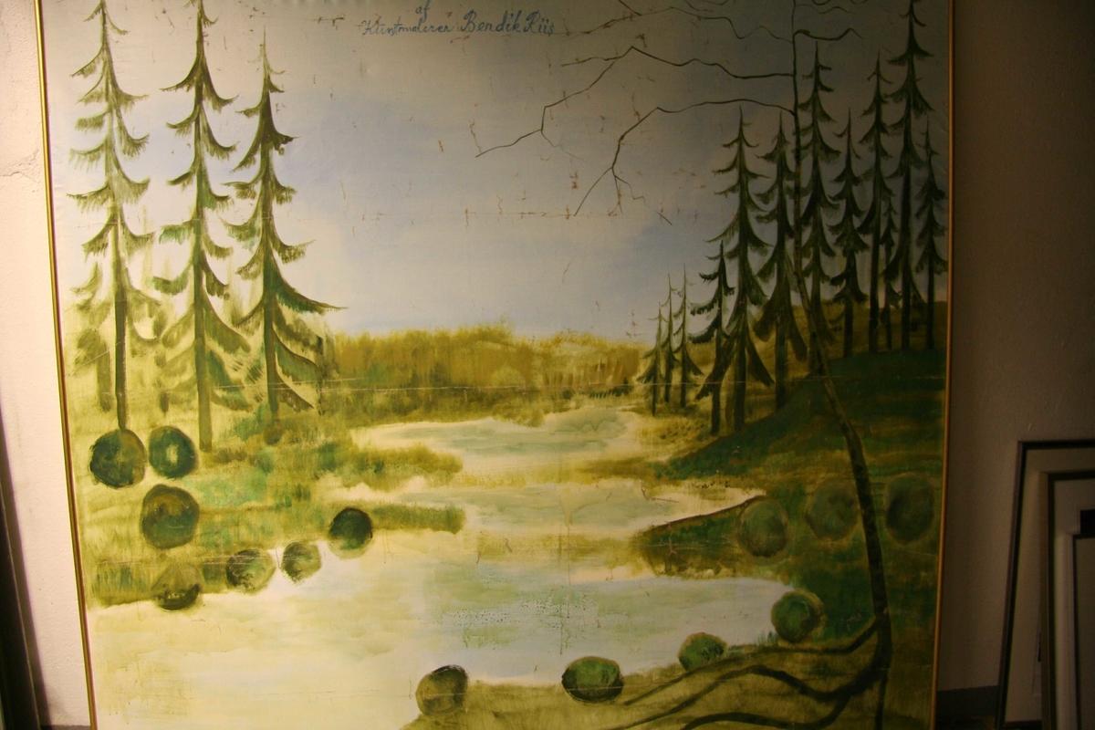 Skoglandskap [Oljemaleri]