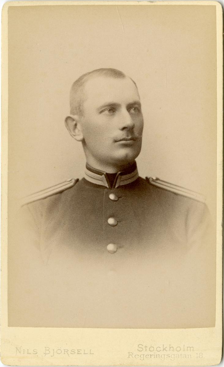 Porträtt av Gustaf Adolf Stjernman, löjtnant vid Jämtlands fältjägareregemente I 23.
