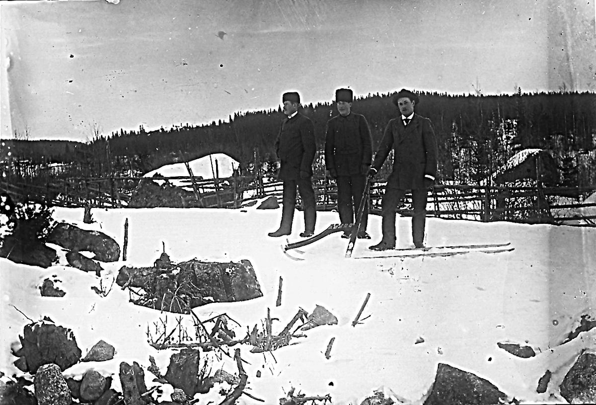 Manne Käller, Johan Sandström och Emil Käller.
