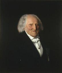 Portrett av Steenstrup. Mørk drakt.