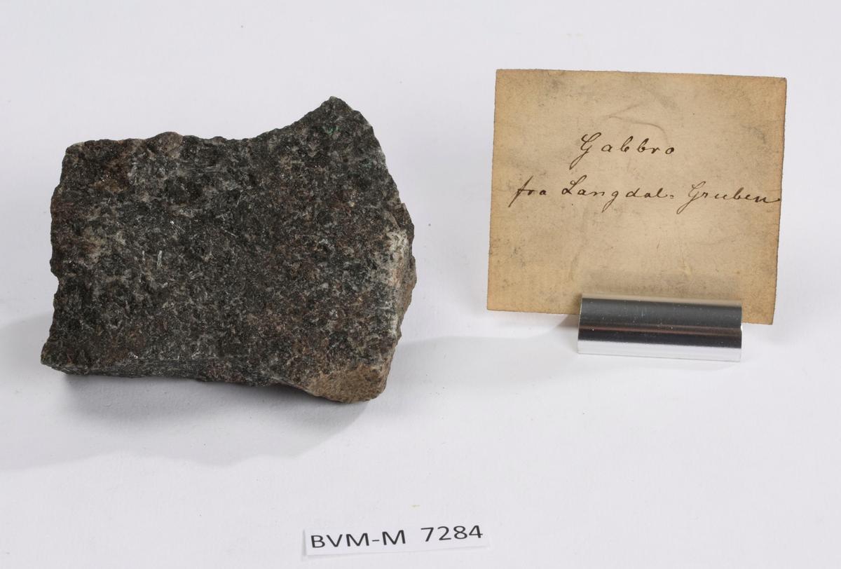 Etikett i eske: Gabbro fra Langdal-Gruben