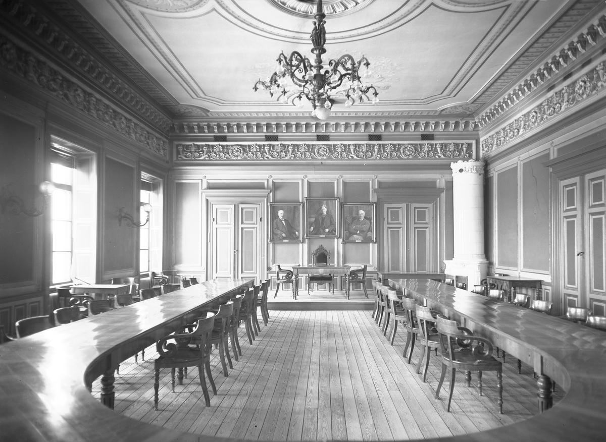 Stadsfullmäktiges cessionsrum i Rådhuset  13 januari 1938