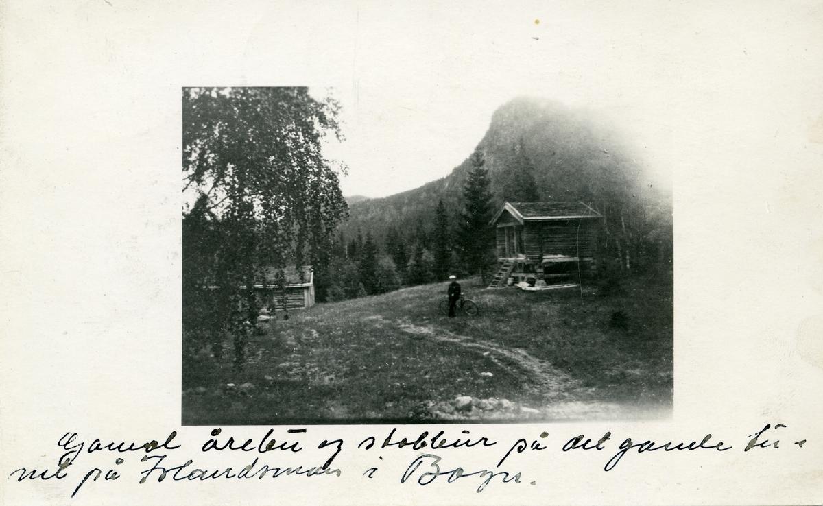 Postkort med motiv av bekkekverna og badstua. Kortet er sendt 19.07.1925.