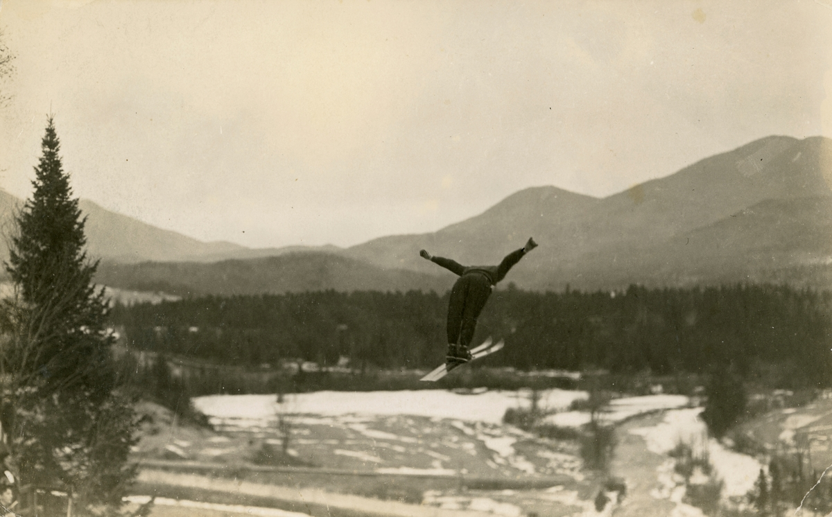 Athlete Olav Ulland in Lake Placid