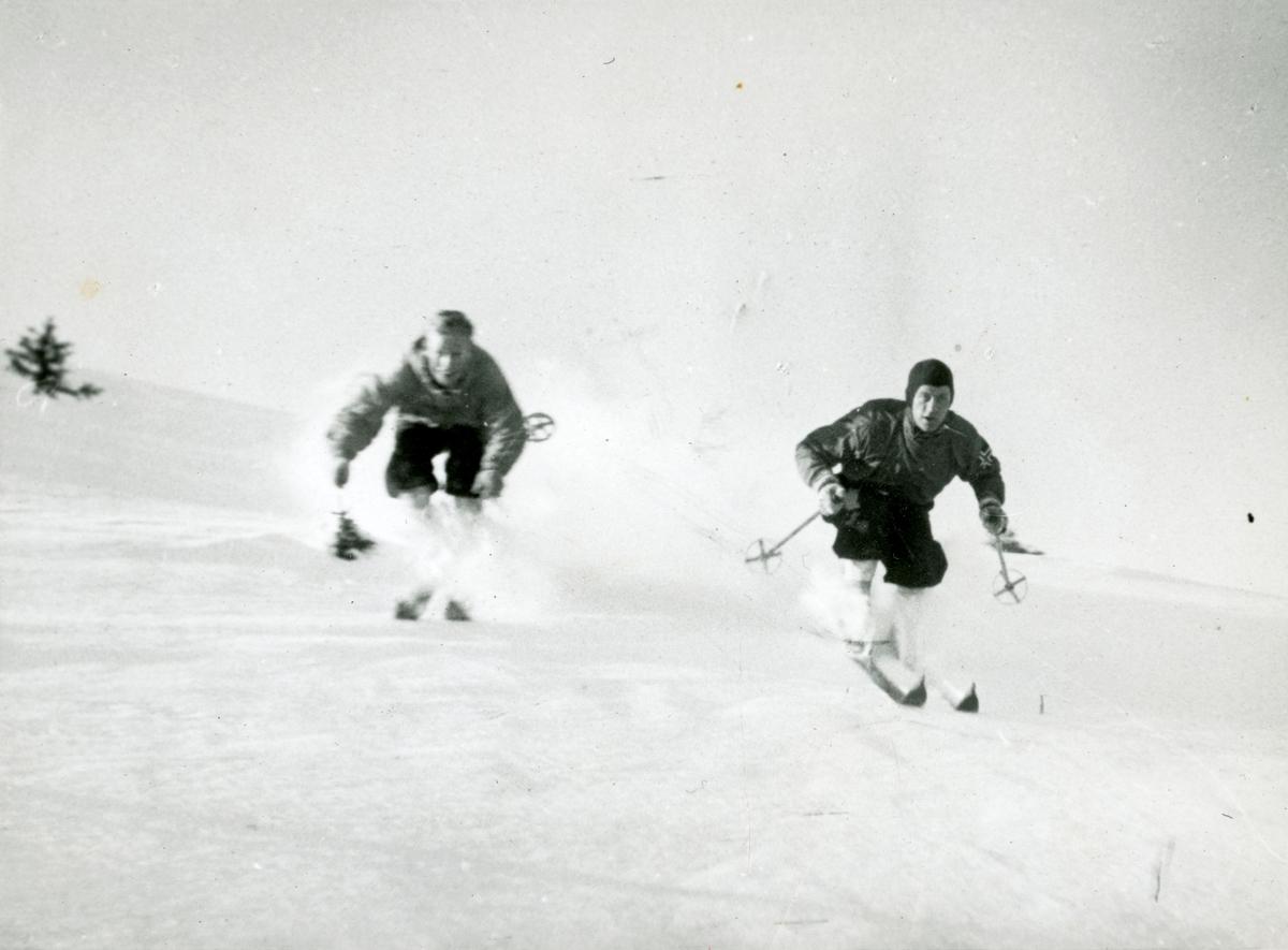 Kongsberg skiers down hill