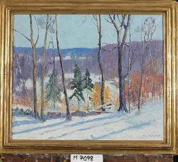 Winter landscape [Oljemålning]