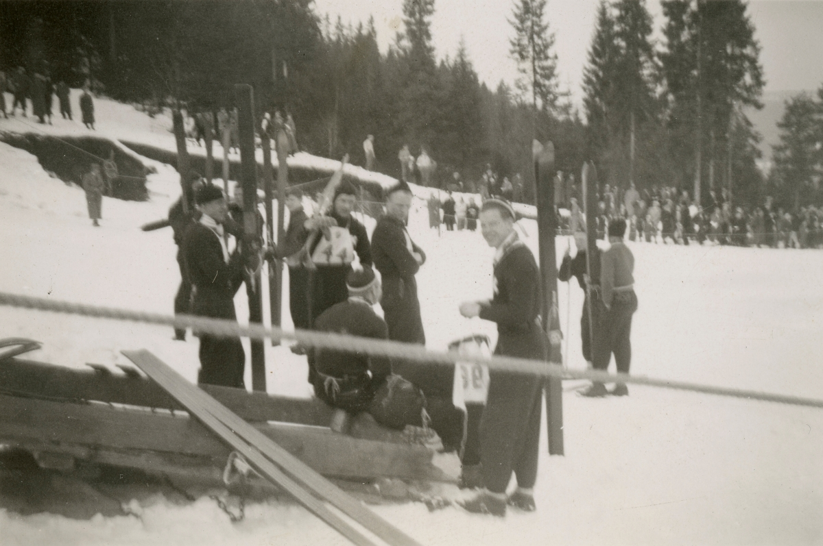 Kongsberg skiers at ski jump competition