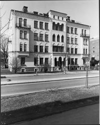 """Staketgatan 3. """"Moriska huset"""". Gatufasaden från söder."""