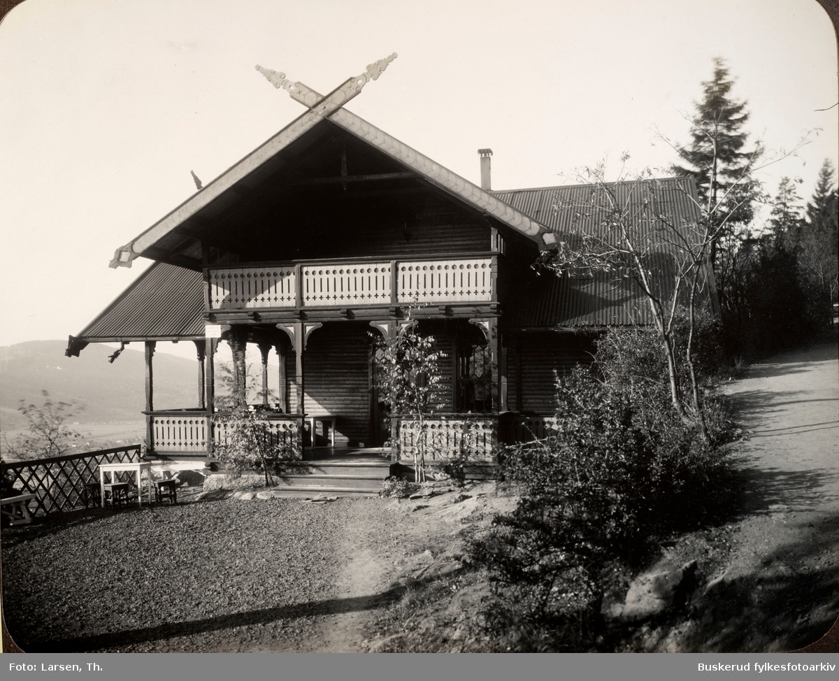 BRAGERNÆS AASENS PAVILON, DRAMMEN.  Den første paviljong ble satt opp av snekker Ruud i 1883 – den såkalte Ruuds Pavillon. Paviljongen var imidlertid liten og forfalt raskt, så i 1895 ble det vedtatt å bygge den større. 17. mai 1898 sto den nye paviljongen klar, og den ble svært populær.  På terrassen har du fin utsikt over Drammen.