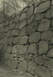 En mur vid ett fästningsverk.