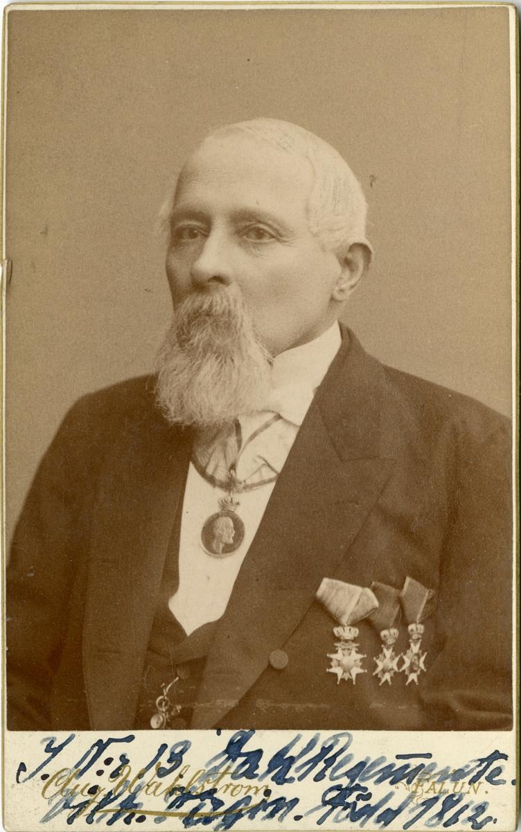 Porträtt av Hans Curt Mauritz Virgin, kapten vid Dalregementet I 13.