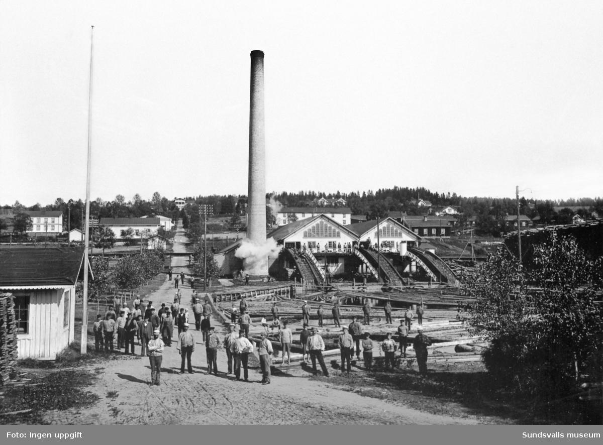 Gustavsbergs sågverkssamhälle omkr. 1904.