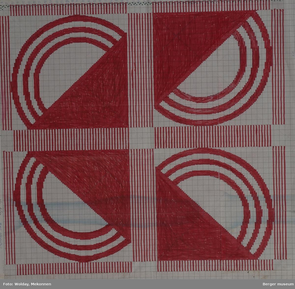 Halvsirkler, trekanter, ruter