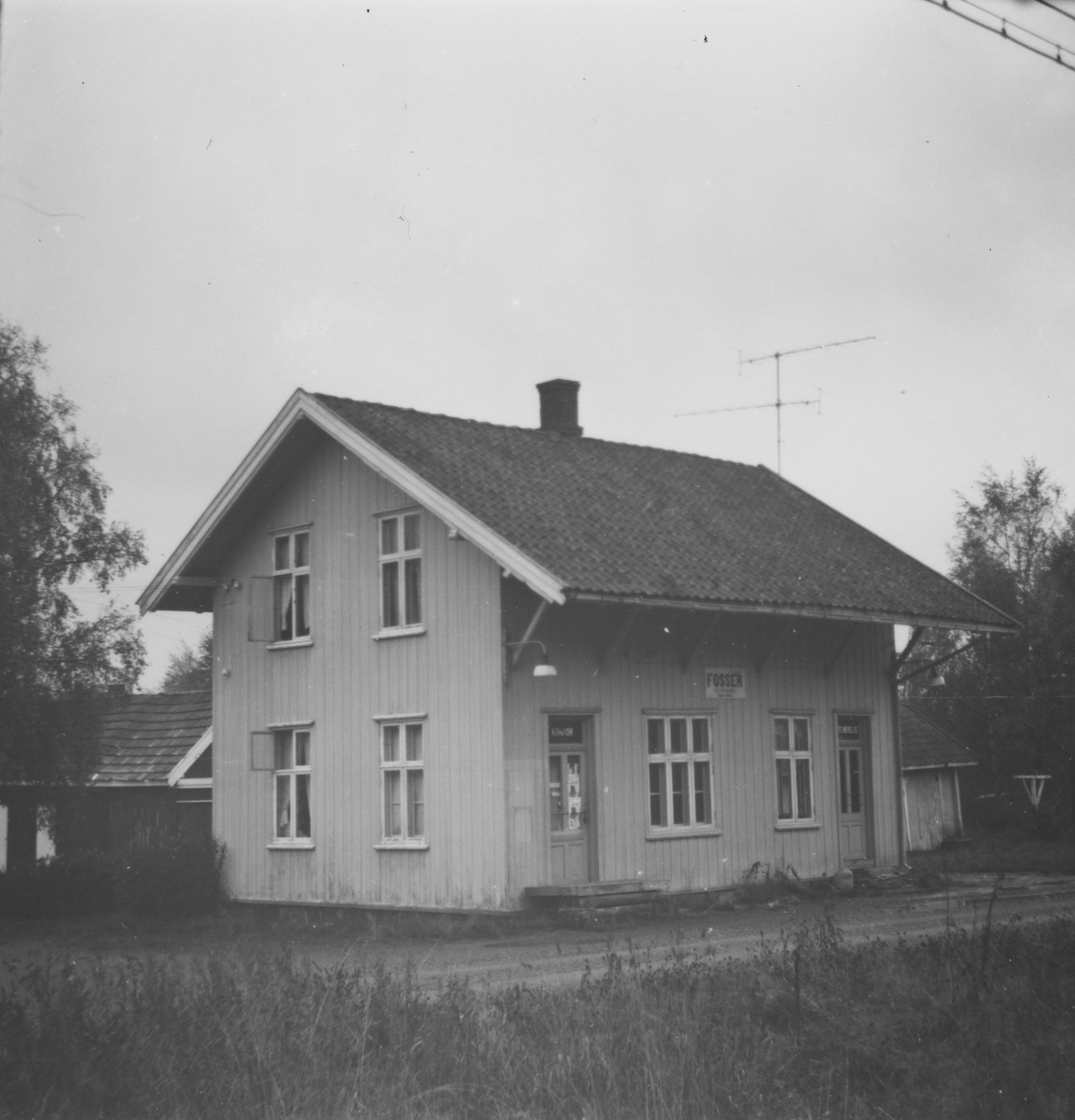 Fosser stasjon på den nedlagte Aurskog-Hølandsbanen.