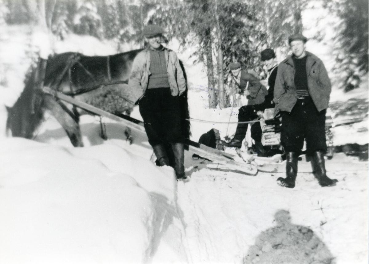 Bjarne Dokken, Andreas Smedsrud og Gudbrand Hansen, take 1954.