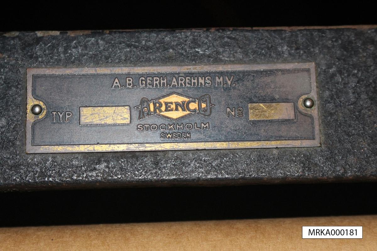 Korrektionsbord m/1938 Sidsättning