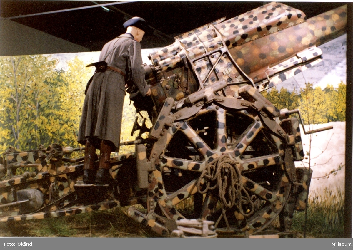 Försvarshistoriska muséet, Jkpg. Haubits m/1917, 21 cm.